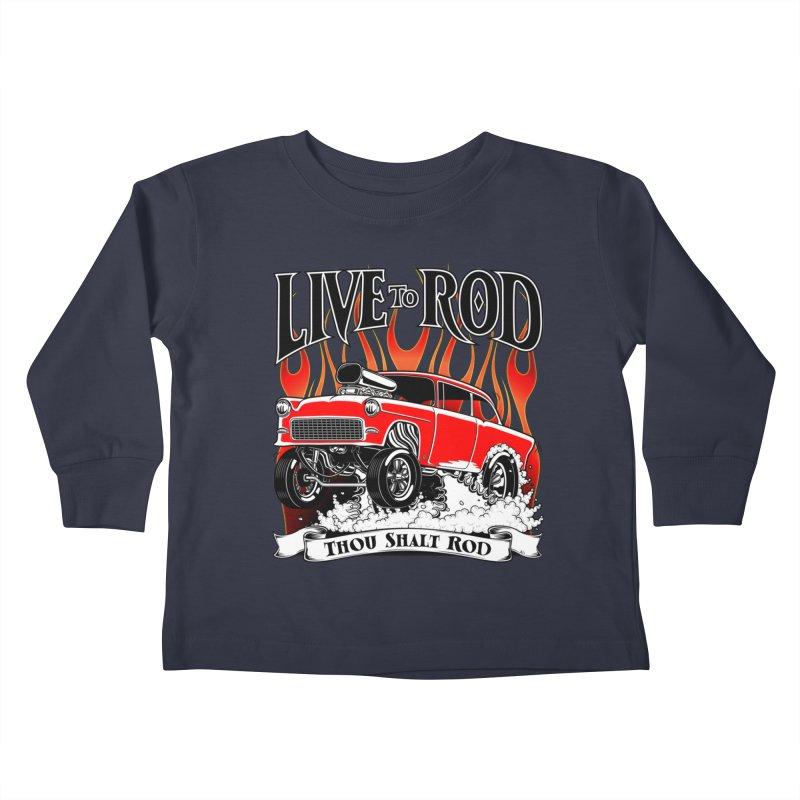55 Chevy Gasser #2, Clean red Kids Toddler Longsleeve T-Shirt by screamnjimmy's Artist Shop