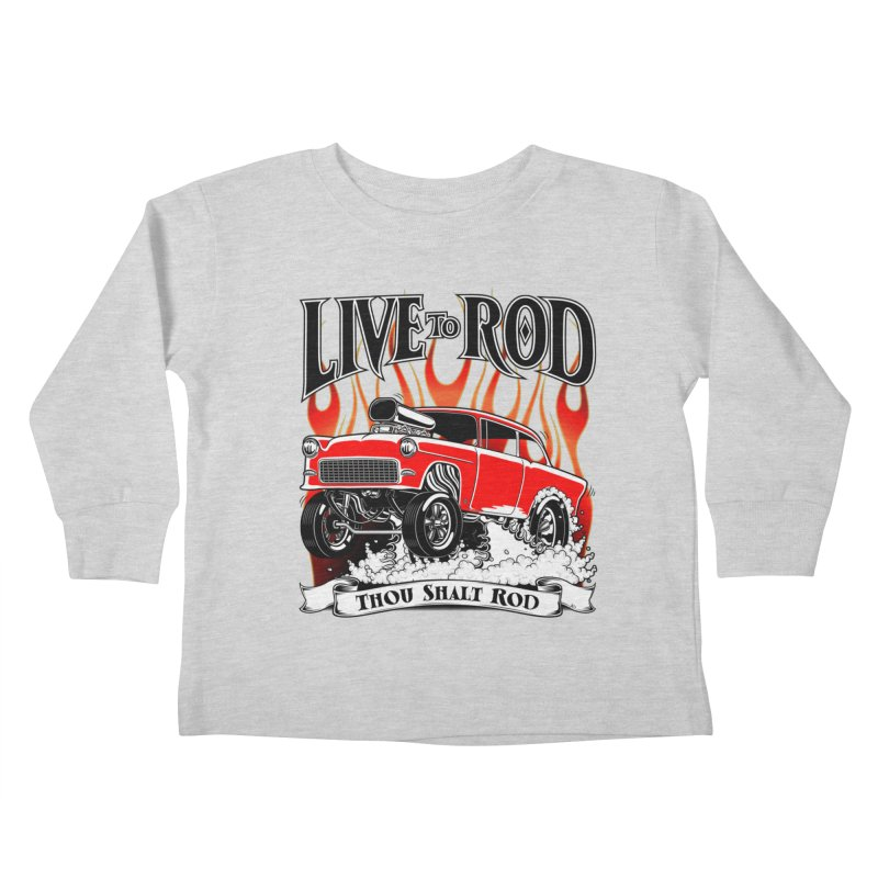 55 Chevy Gasser #2, Clean red Kids Toddler Longsleeve T-Shirt by screamnjimmy's Artist Shop