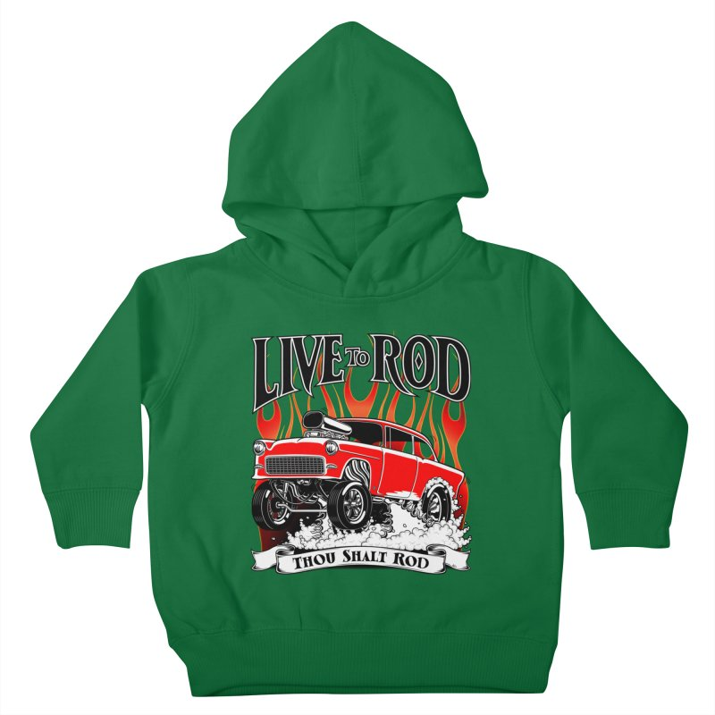 55 Chevy Gasser #2, Clean red Kids Toddler Pullover Hoody by screamnjimmy's Artist Shop