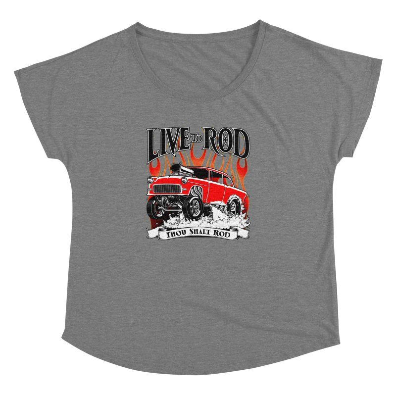 55 Chevy Gasser #2, Clean red Women's Dolman by screamnjimmy's Artist Shop
