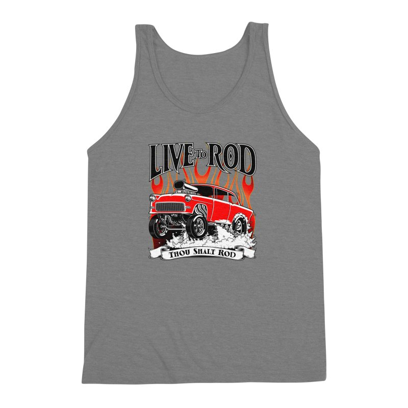 55 Chevy Gasser #2, Clean red Men's Triblend Tank by screamnjimmy's Artist Shop