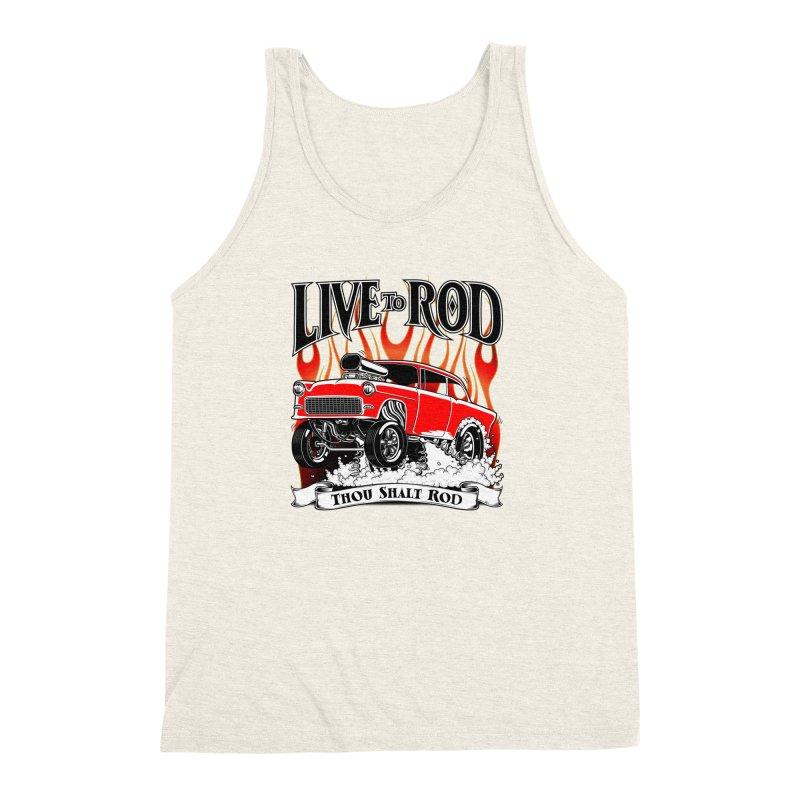 55 Chevy Gasser #2, Clean red Men's Triblend Tank by screamnjimmy's Artist Shop