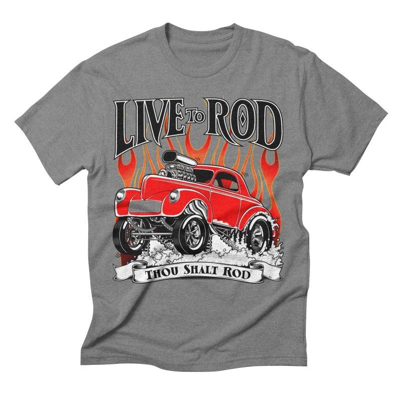 41 Willys Gasser – clean red Men's T-Shirt by screamnjimmy's Artist Shop