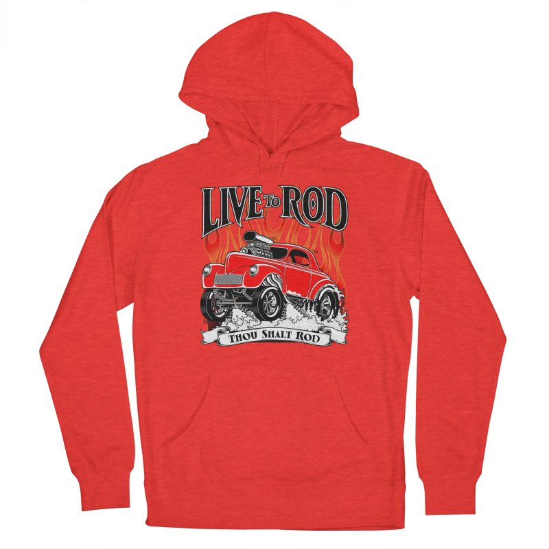 41 Willys Gasser – clean red Men's Pullover Hoody by screamnjimmy's Artist Shop