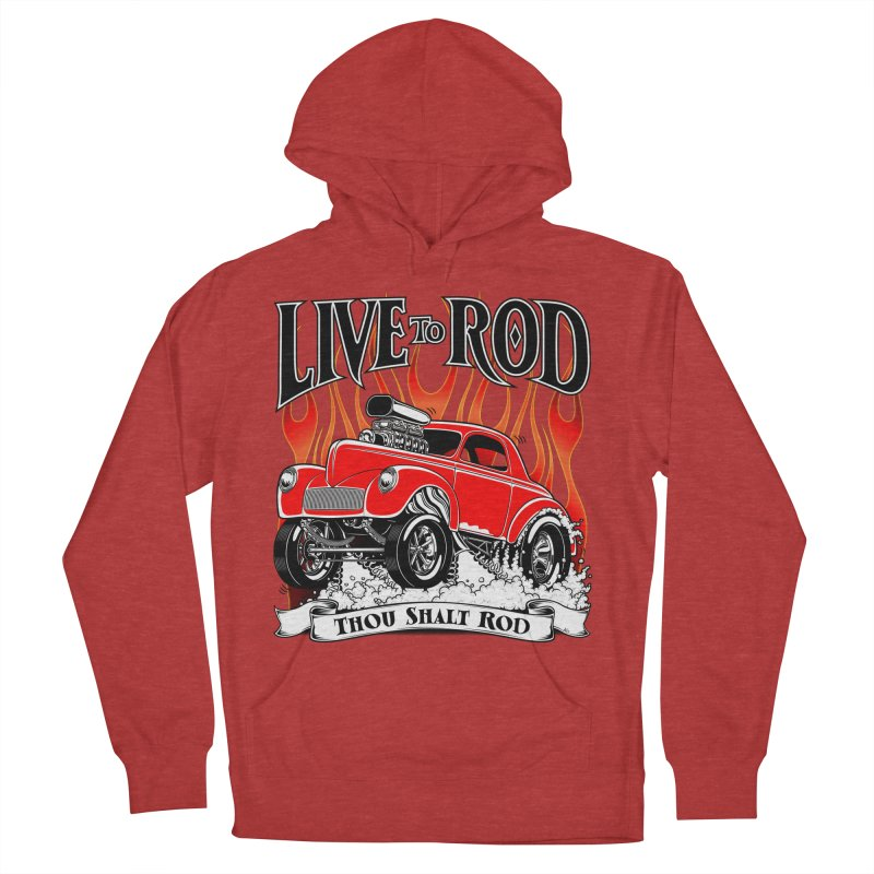 41 Willys Gasser – clean red Men's French Terry Pullover Hoody by screamnjimmy's Artist Shop