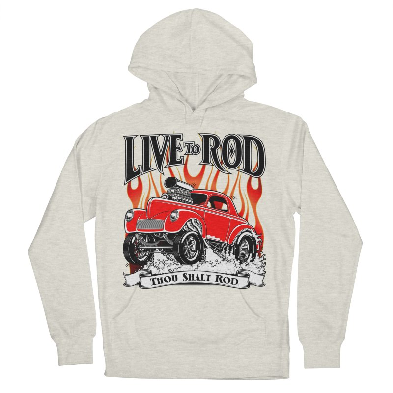 41 Willys Gasser – clean red Men's Pullover Hoody by screamnjimmy's Artist Shop