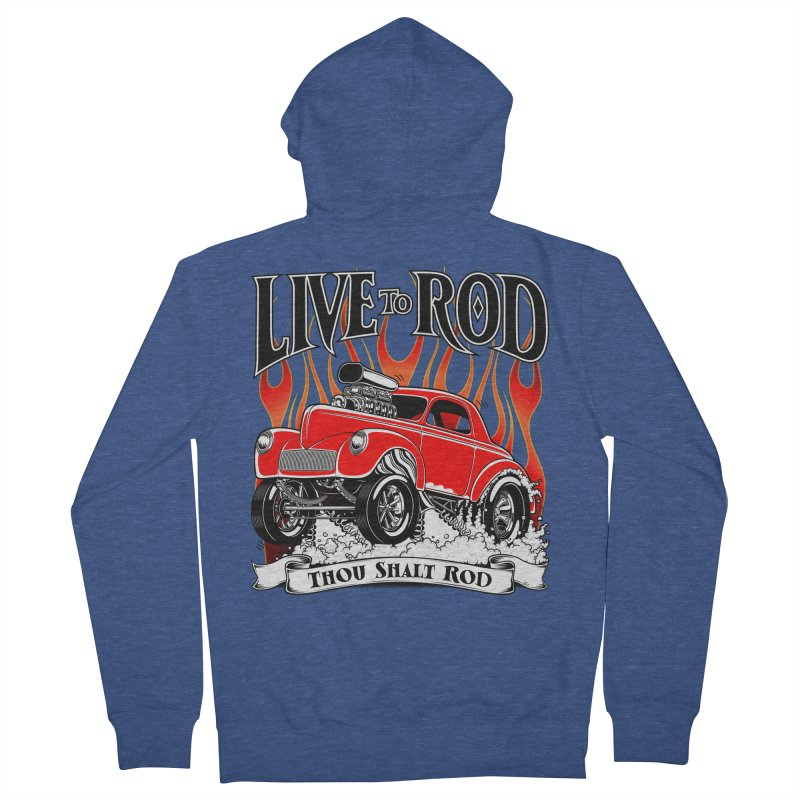 41 Willys Gasser – clean red Women's Zip-Up Hoody by screamnjimmy's Artist Shop