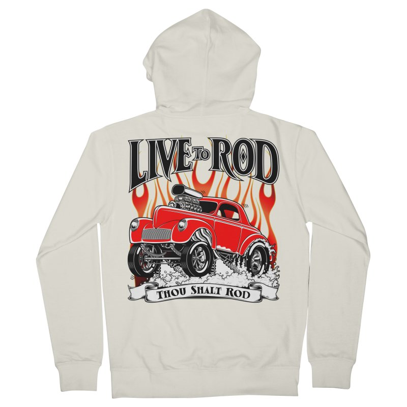 41 Willys Gasser – clean red Women's French Terry Zip-Up Hoody by screamnjimmy's Artist Shop