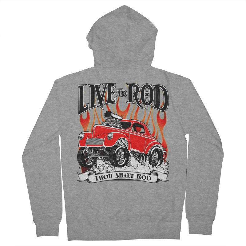 41 Willys Gasser – clean red Men's Zip-Up Hoody by screamnjimmy's Artist Shop