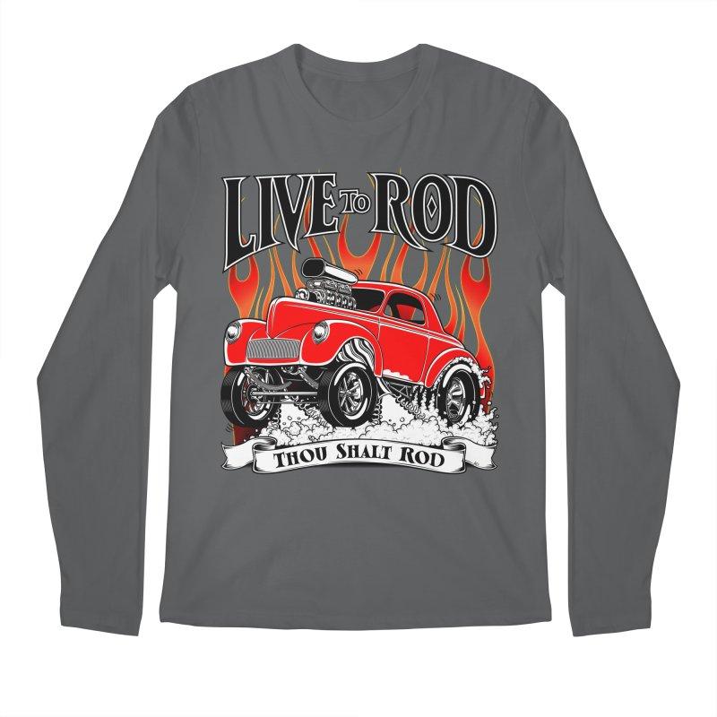 41 Willys Gasser – clean red Men's Longsleeve T-Shirt by screamnjimmy's Artist Shop