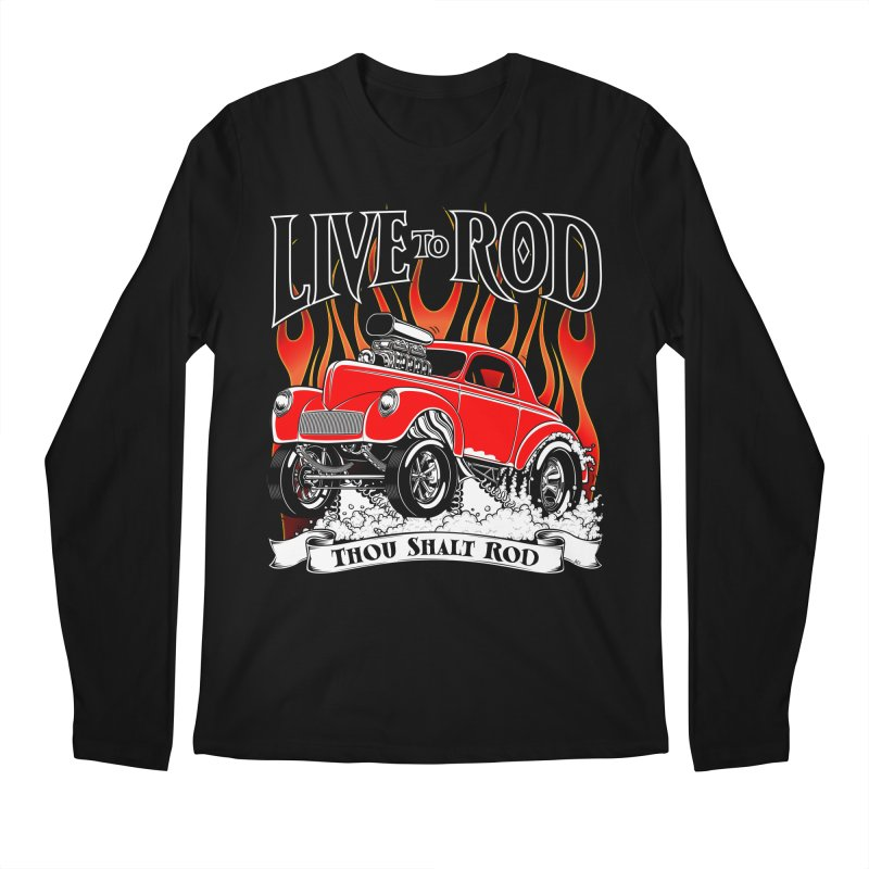 41 Willys Gasser – clean red Men's Longsleeve T-Shirt by screamnjimmy's Artist Shop