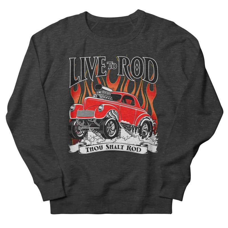 41 Willys Gasser – clean red Men's French Terry Sweatshirt by screamnjimmy's Artist Shop