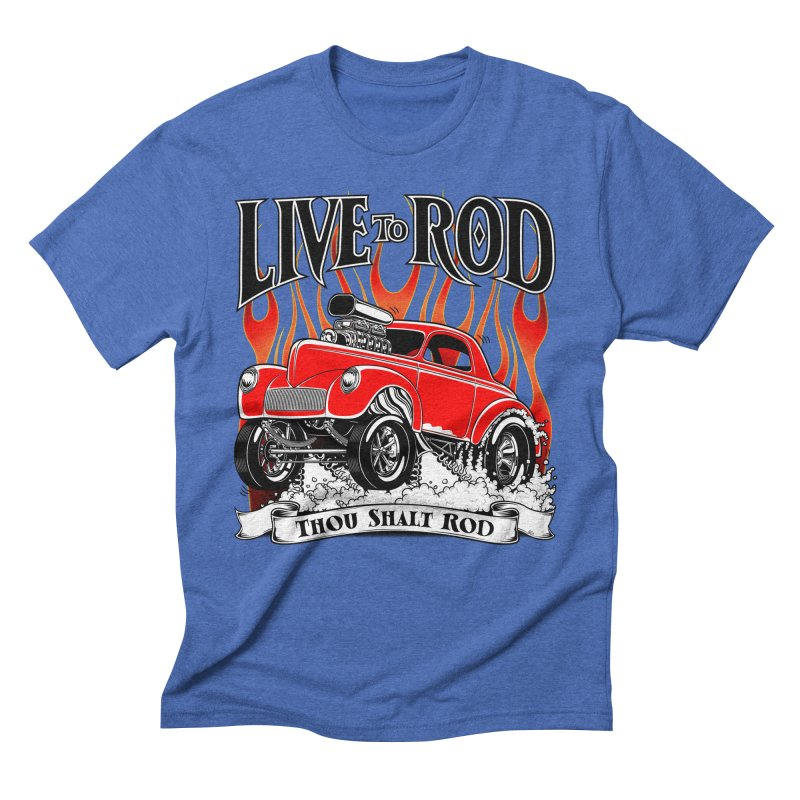 41 Willys Gasser – clean red Men's T-Shirt by screamnjimmy's Artist Shop