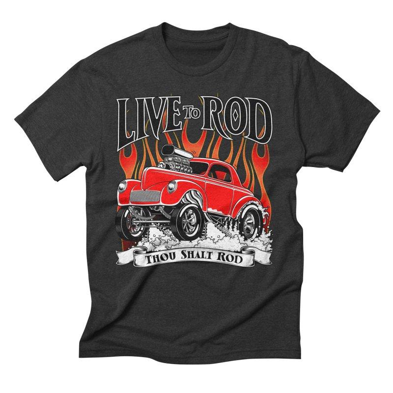 41 Willys Gasser – clean red Men's Triblend T-Shirt by screamnjimmy's Artist Shop