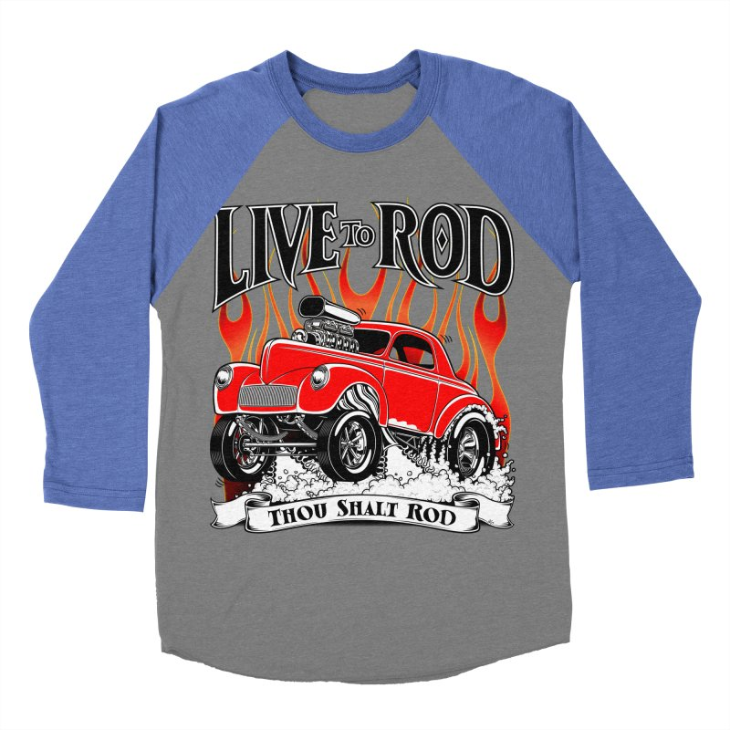 41 Willys Gasser – clean red Men's Baseball Triblend T-Shirt by screamnjimmy's Artist Shop
