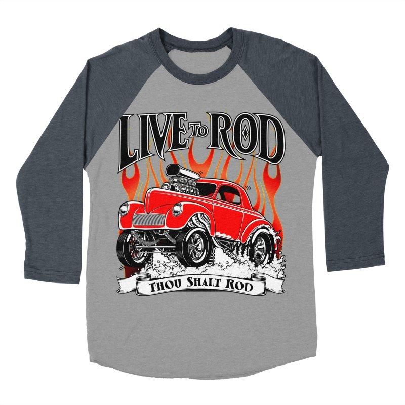 41 Willys Gasser – clean red Men's Baseball Triblend Longsleeve T-Shirt by screamnjimmy's Artist Shop