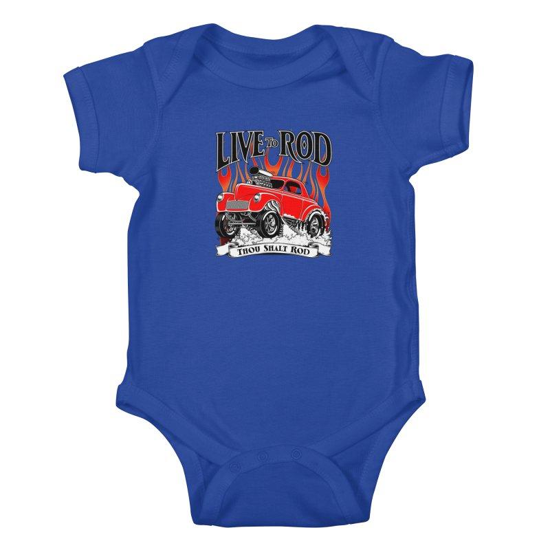 41 Willys Gasser – clean red Kids Baby Bodysuit by screamnjimmy's Artist Shop