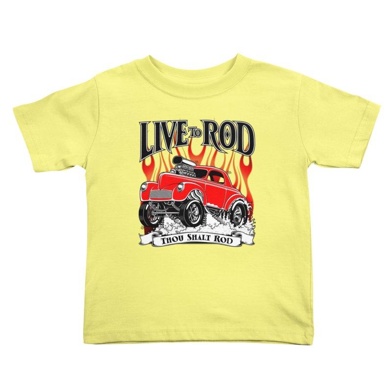41 Willys Gasser – clean red Kids Toddler T-Shirt by screamnjimmy's Artist Shop