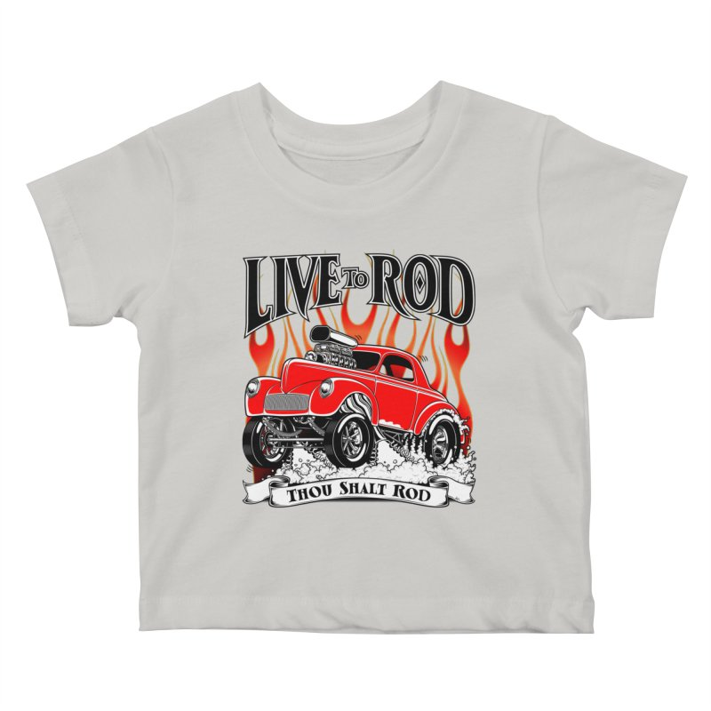 41 Willys Gasser – clean red Kids Baby T-Shirt by screamnjimmy's Artist Shop