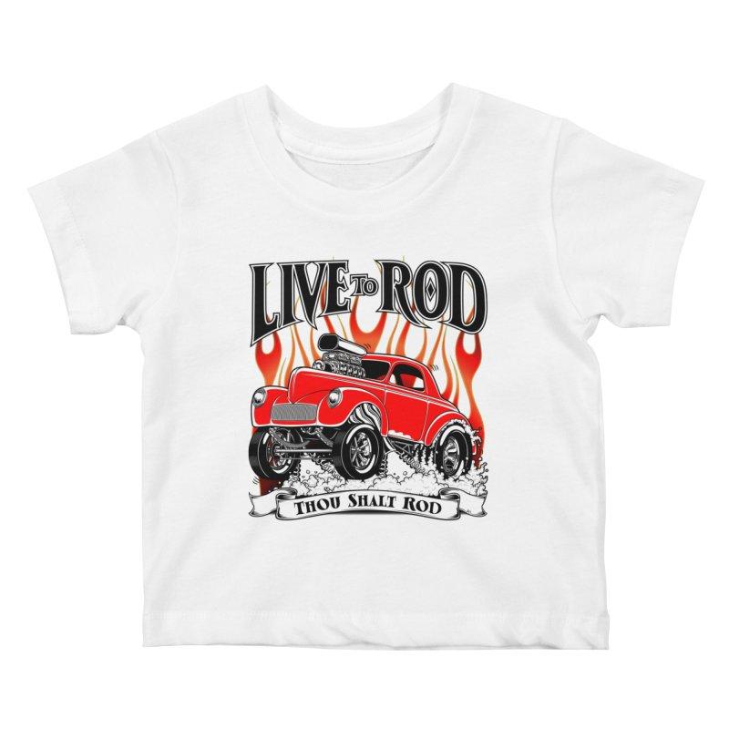 41 Willys Gasser – clean red Kids Baby T-Shirt by screamnjimmy's Artist Shop