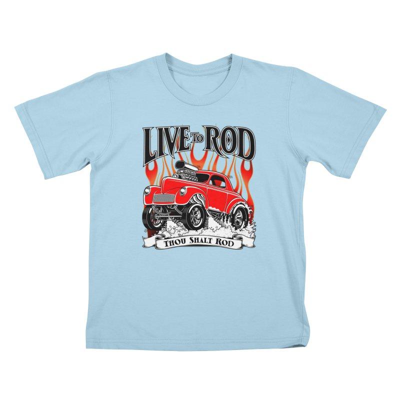 41 Willys Gasser – clean red Kids T-Shirt by screamnjimmy's Artist Shop