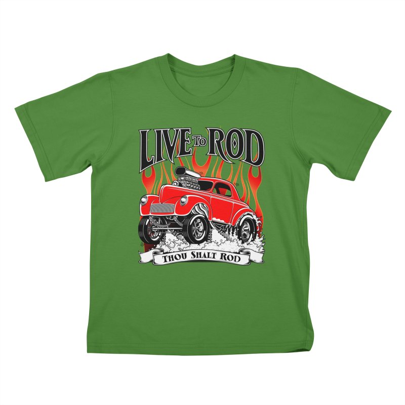 41 Willys Gasser – clean red Kids T-shirt by screamnjimmy's Artist Shop