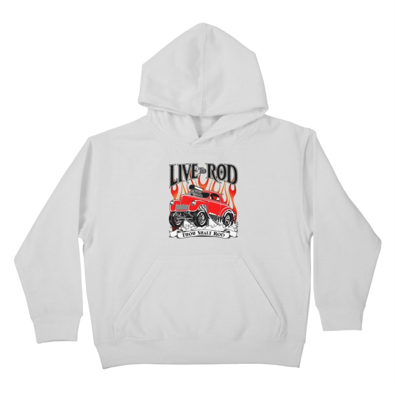 41 Willys Gasser – clean red Kids Pullover Hoody by screamnjimmy's Artist Shop