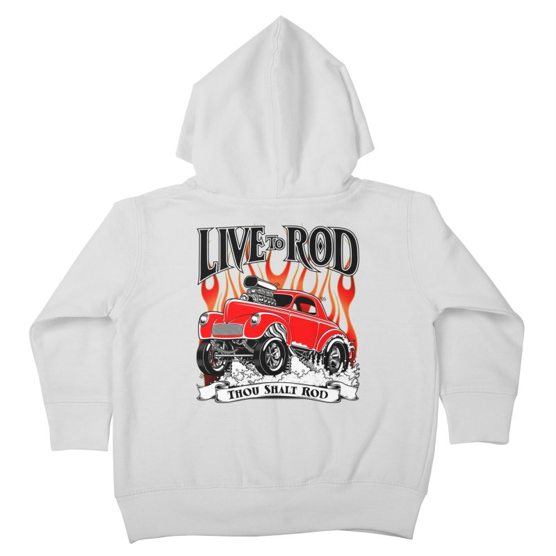 41 Willys Gasser – clean red Kids Toddler Zip-Up Hoody by screamnjimmy's Artist Shop