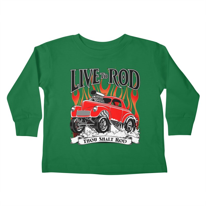 41 Willys Gasser – clean red Kids Toddler Longsleeve T-Shirt by screamnjimmy's Artist Shop