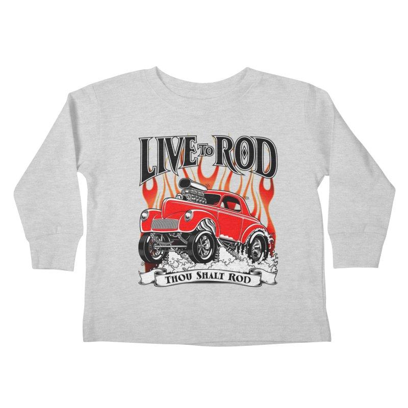 41 Willys Gasser – clean red Kids Toddler Longsleeve T-Shirt by screamnjimmy's Artist Shop