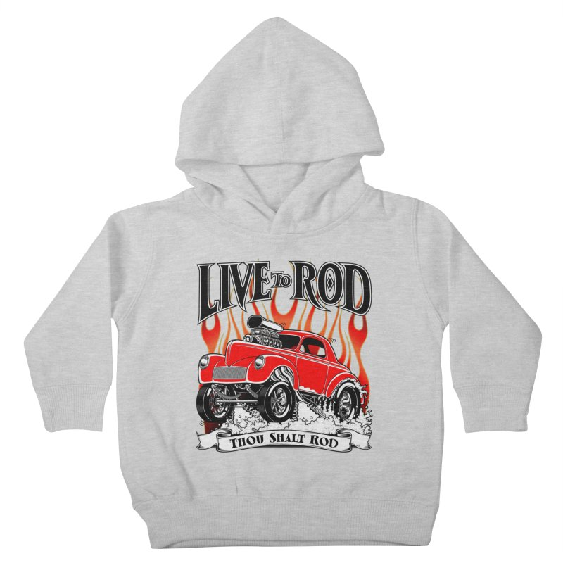 41 Willys Gasser – clean red Kids Toddler Pullover Hoody by screamnjimmy's Artist Shop