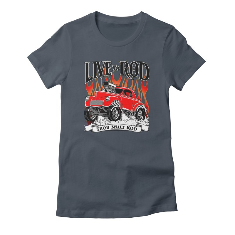 41 Willys Gasser – clean red Women's T-Shirt by screamnjimmy's Artist Shop