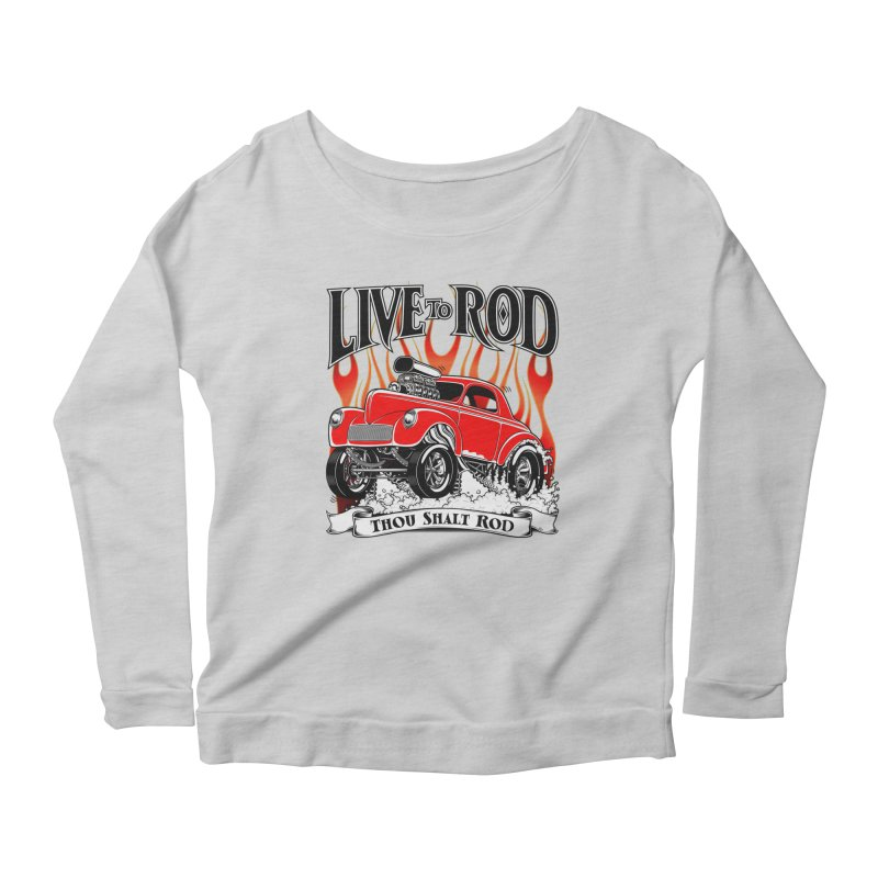 41 Willys Gasser – clean red Women's Longsleeve Scoopneck  by screamnjimmy's Artist Shop