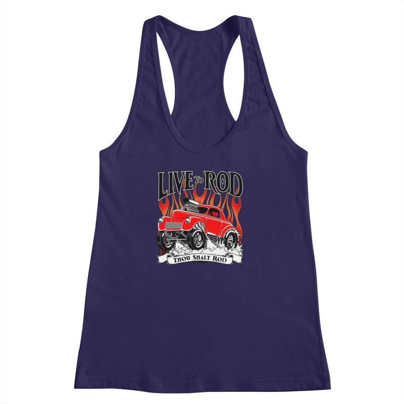41 Willys Gasser – clean red Women's Racerback Tank by screamnjimmy's Artist Shop
