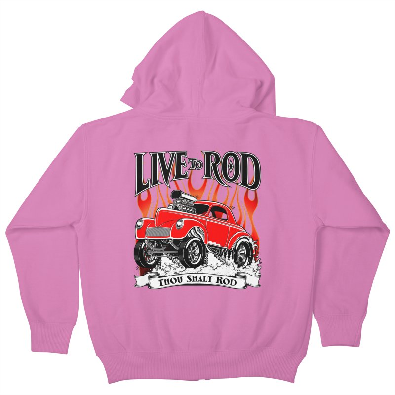 41 Willys Gasser – clean red Kids Zip-Up Hoody by screamnjimmy's Artist Shop