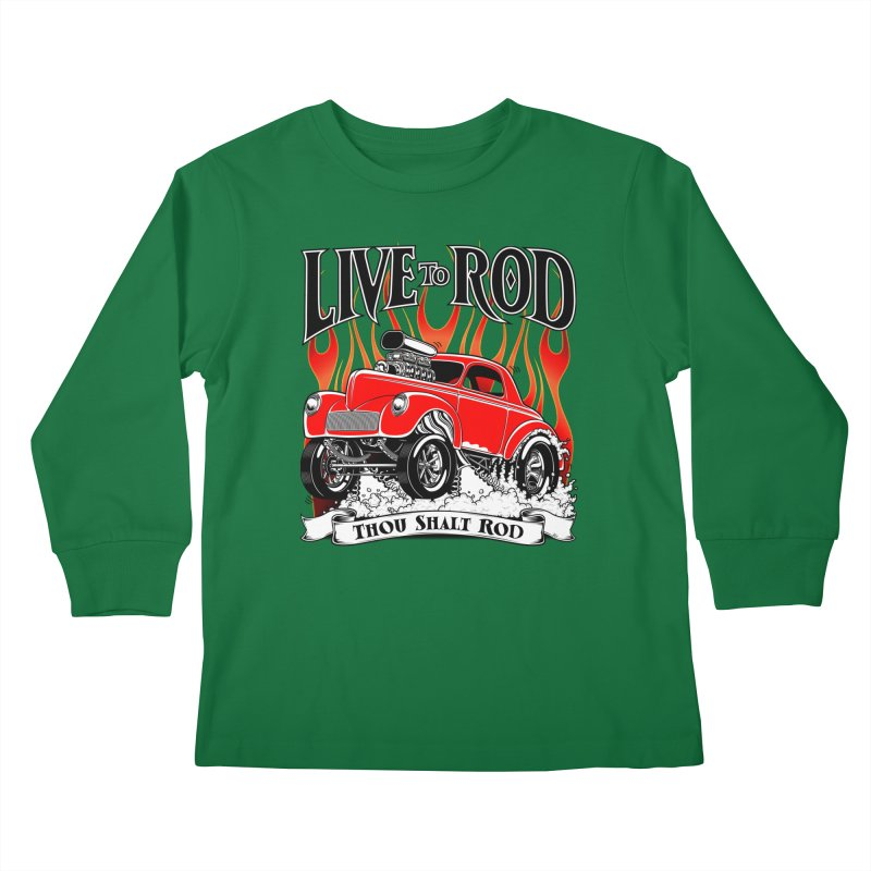 41 Willys Gasser – clean red Kids Longsleeve T-Shirt by screamnjimmy's Artist Shop