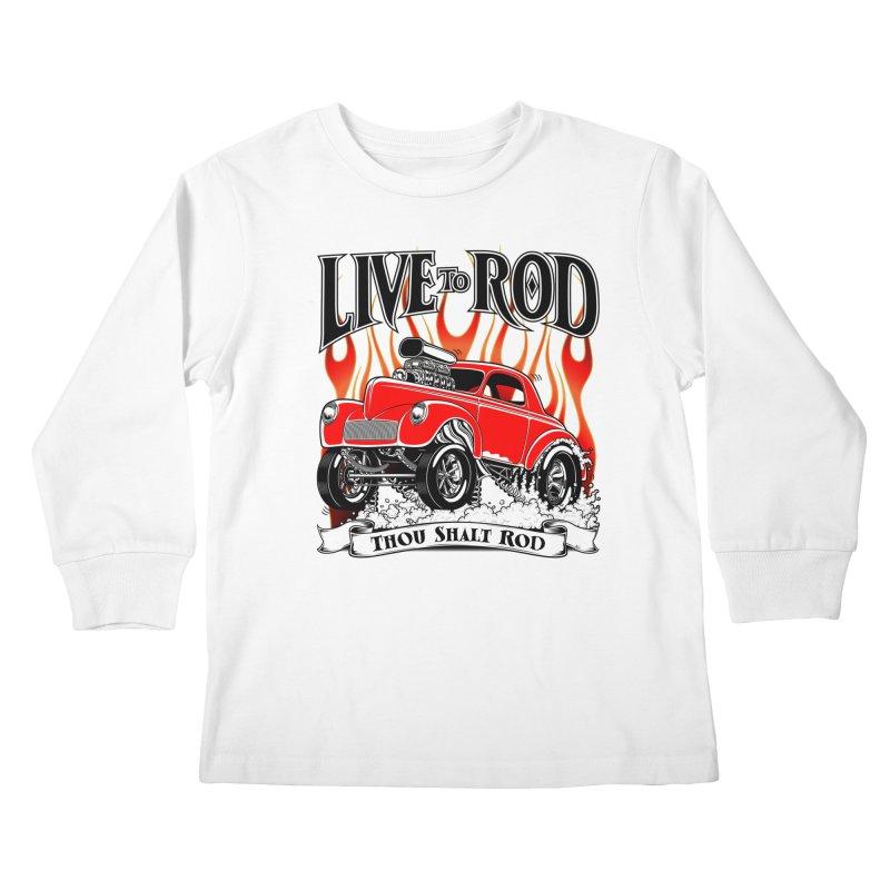 41 Willys Gasser – clean red Kids Longsleeve T-Shirt by screamnjimmy's Artist Shop
