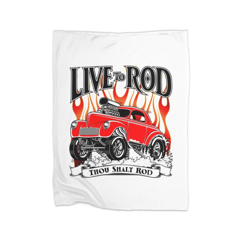 41 Willys Gasser – clean red Home Blanket by screamnjimmy's Artist Shop