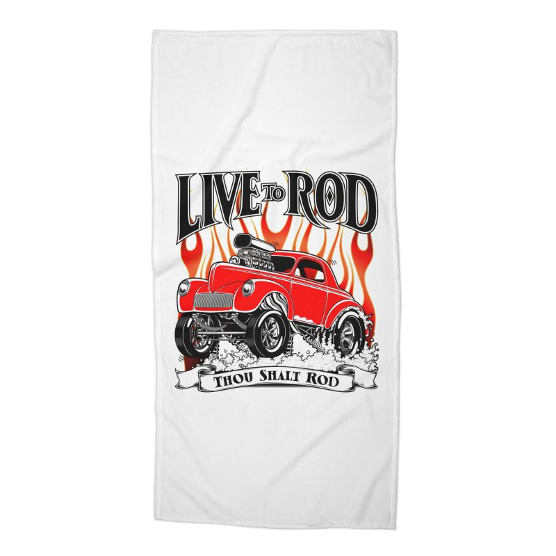 41 Willys Gasser – clean red Accessories Beach Towel by screamnjimmy's Artist Shop