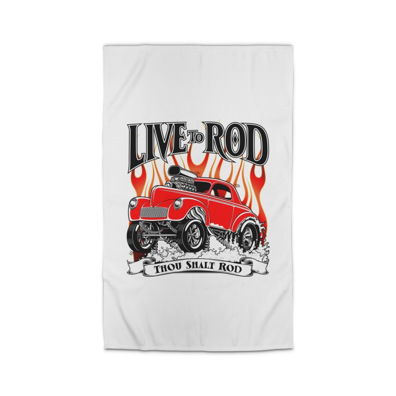 41 Willys Gasser – clean red Home Rug by screamnjimmy's Artist Shop