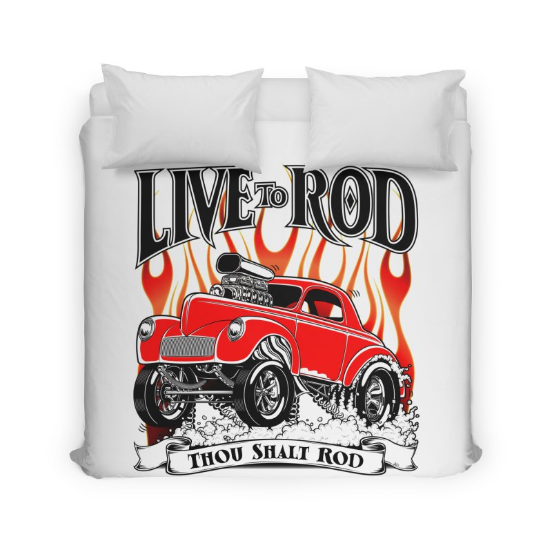 41 Willys Gasser – clean red Home Duvet by screamnjimmy's Artist Shop