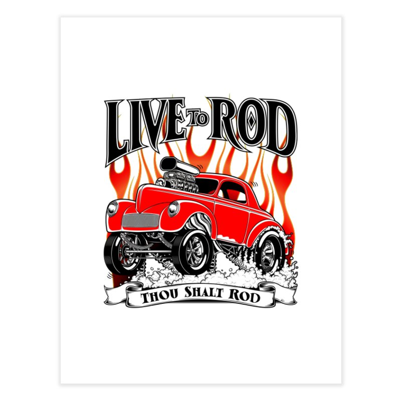 41 Willys Gasser – clean red Home Fine Art Print by screamnjimmy's Artist Shop