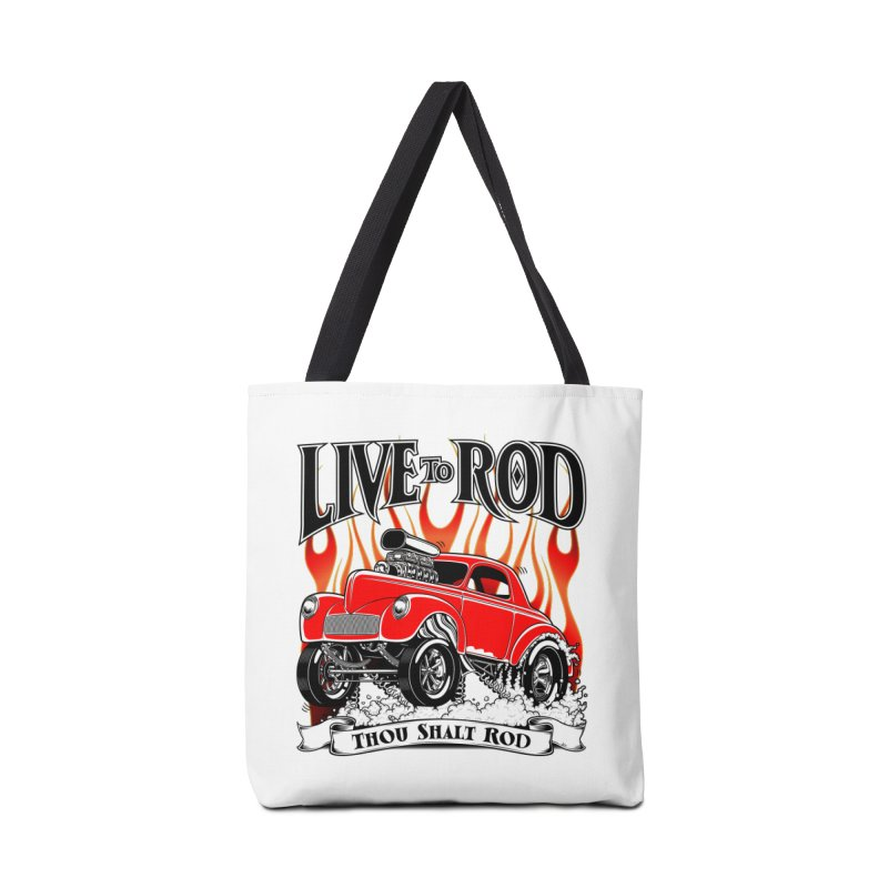 41 Willys Gasser – clean red Accessories Tote Bag Bag by screamnjimmy's Artist Shop