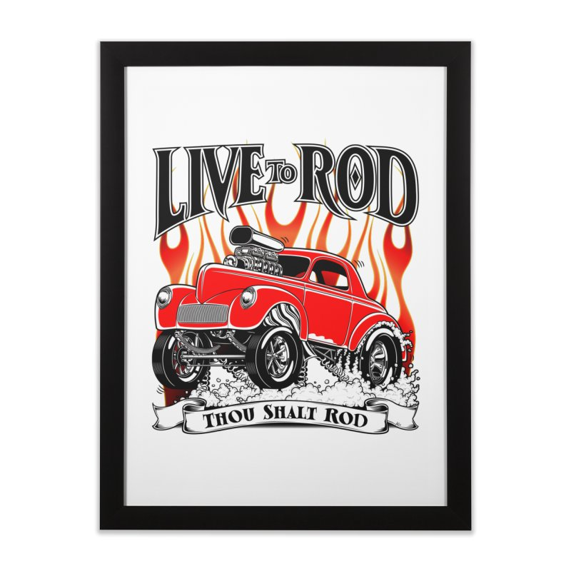 41 Willys Gasser – clean red Home Framed Fine Art Print by screamnjimmy's Artist Shop