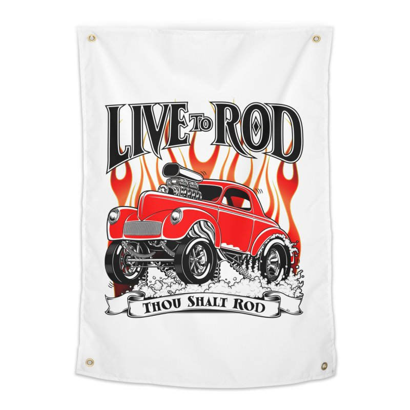 41 Willys Gasser – clean red Home Tapestry by screamnjimmy's Artist Shop