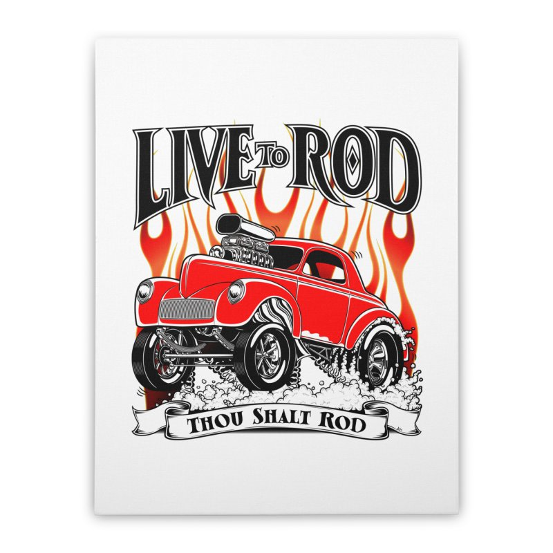 41 Willys Gasser – clean red Home Stretched Canvas by screamnjimmy's Artist Shop