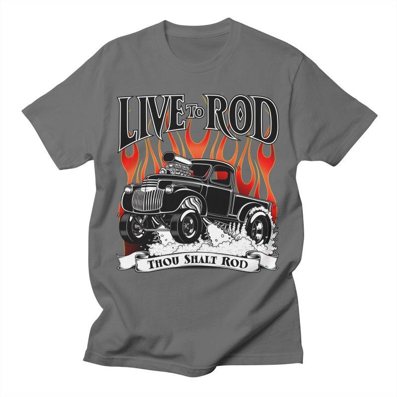 46' Chevy Gasser Pickup - Black Men's T-Shirt by screamnjimmy's Artist Shop