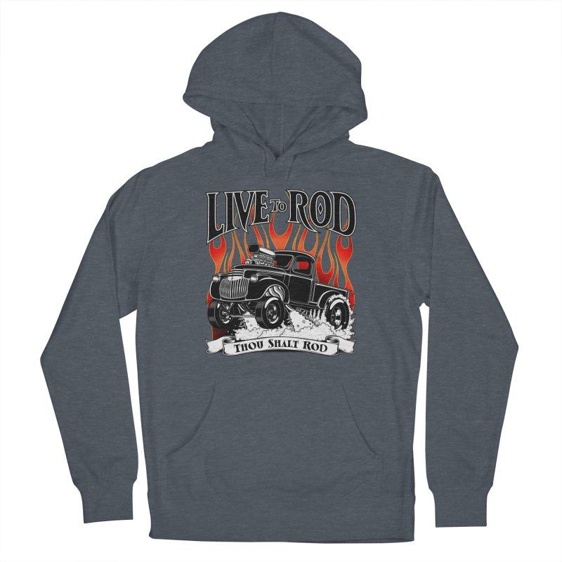 46' Chevy Gasser Pickup - Black Men's Pullover Hoody by screamnjimmy's Artist Shop