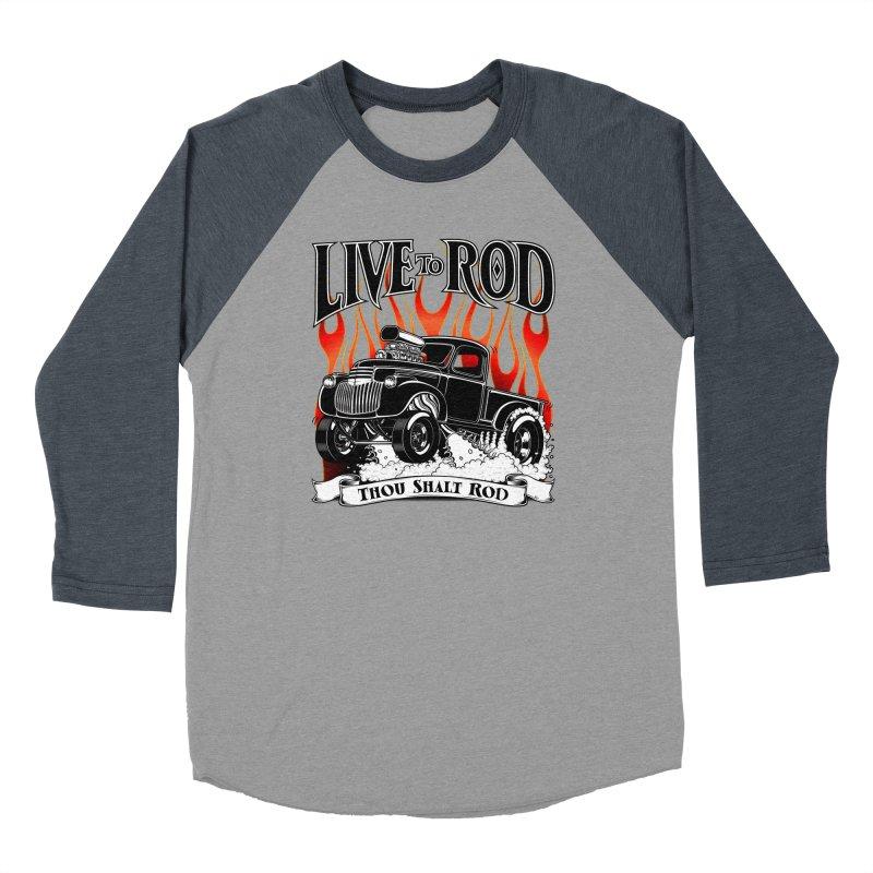 46' Chevy Gasser Pickup - Black Women's Longsleeve T-Shirt by screamnjimmy's Artist Shop