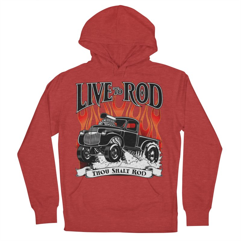 46' Chevy Gasser Pickup - Black Women's Pullover Hoody by screamnjimmy's Artist Shop
